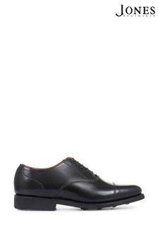 Jones Bootmaker Black Minty Goodyear Welted Polished Men's Leather Oxford Shoes