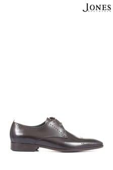 Jones Bootmaker Black Marcus Men's Leather Derby Shoes