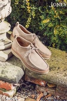 Jones Bootmaker Natural Lark Men's Suede Desert Shoes
