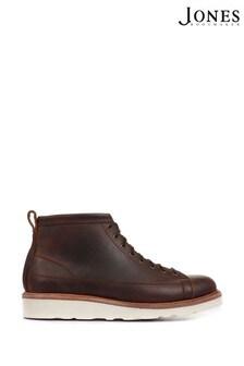 Jones Bootmaker Brown Amersham Men's Wide Fit Suede Ankle Boots