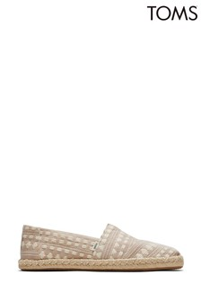TOMS Brown Alpargata Rope Global Woven Shoes