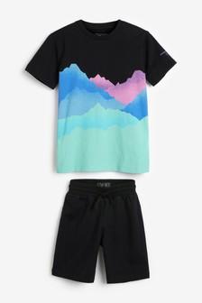 Bright Waves T-Shirt And Short Set (3-16yrs)