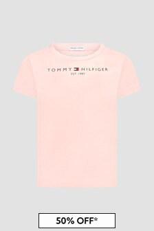 Tommy Hilfiger Girls Pink T-Shirt