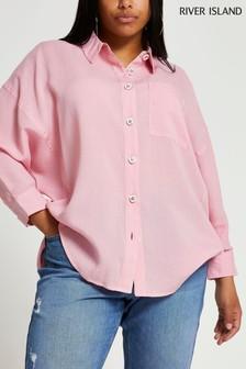 River Island Plus Pink Oversized Shirt