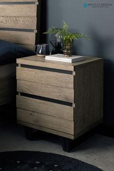 Tivoli Weathered 2 Drawer Bedside Table