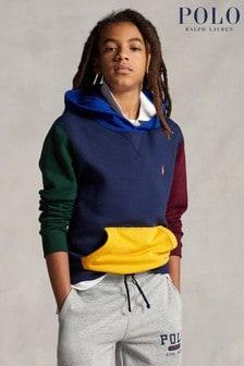 Ralph Lauren Multicoloured Colourblock Logo Hoodie