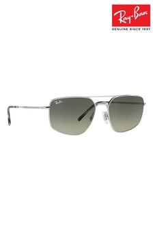 Ray-Ban Slim Double Bridge Metal Frame Sunglasses
