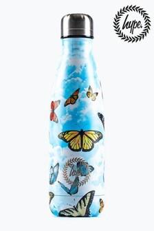 Hype. Blue Butterflies Metal Reusable Bottle