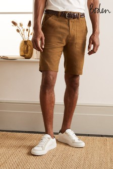 Boden Linen Blend Easy Shorts