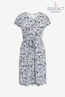 Seasalt Cornwall Blue Field Poppy Dress