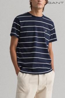 GANT Blue Breton Stripe T-Shirt