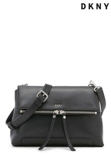 DKNY Black Jaye Leather Cross-Body Bag