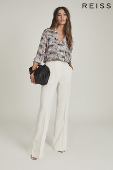 REISS Pink Maggie Circle Printed Blouse