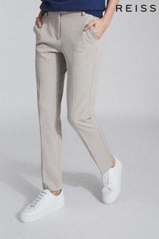REISS Grey Joanne Slim Fit Tailored Trousers