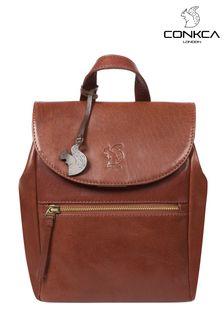 Conkca Simone Leather Backpack