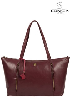 Conkca Clover Leather Tote Bag