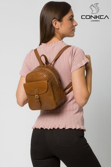 Conkca Eloise Leather Backpack