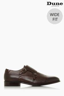 Dune London Brown Scheme Wide Fit Monk Shoes