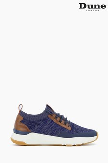 Dune London Blue Trex Stretch Knit Chunky Sole Trainers