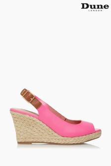 Dune London Pink Kicks 2 Espadrille Wedge Heel Sandals