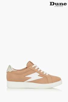 Dune London Brown Energised Lightning Bolt Low Trainers