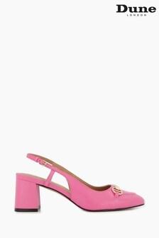 Dune London Pink Cassie Snaffle Trim Slingbacks