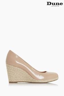Dune London Natural Annabels Wedge Heel Espadrille Shoes