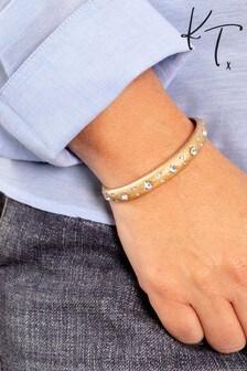 Kate Thornton Gold Bracelet With Sparkling Celestial Details