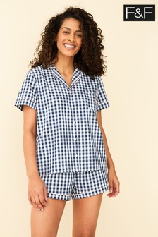 F&F Blue Gingham Pyjamas