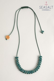 Seasalt Cornwall Green Relief Necklace
