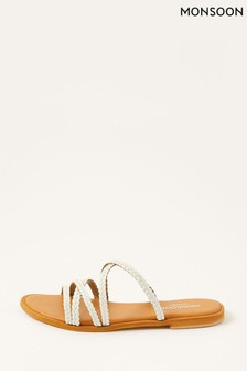 Monsoon Pixie Plaited Leather Sandals