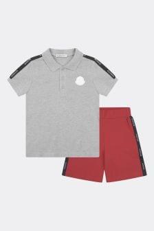 Moncler Enfant Boys Pique Polo & Shorts Set