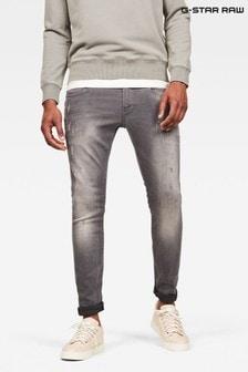 G-Star Revend Skinny Fit Aged Destroy Grey Wash Jeans