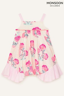 Monsoon Natural Baby Metallic Flower Dress