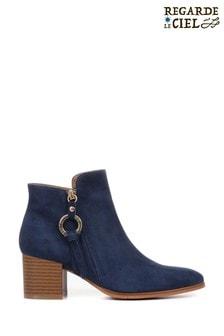 Regarde Le Ciel Taylor-01 Ladies Block Heel Ankle Boots