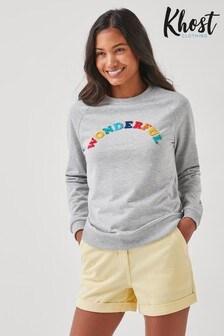 Khost Grey Wonderful Slogan Sweatshirt