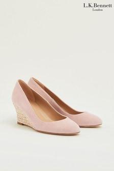 L.K.Bennett x Royal Ascot Pink Eevi Closed Court Shoes