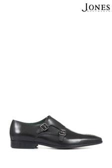 Jones Bootmaker Black Morden Men's Leather Monk Shoes