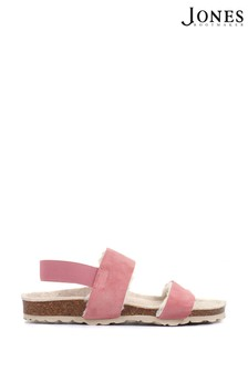 Jones Bootmaker Pink Laural Womens Twin Strap Sandals
