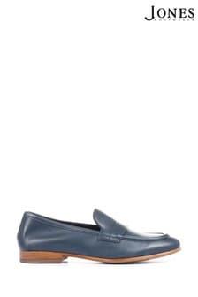 Jones Bootmaker Blue King Bird Leather Ladies Penny Loafers