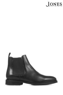 Jones Bootmaker Black Deakin Leather Mens Chelsea Boots