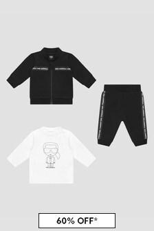 Karl Lagerfeld Baby Boys Black Tracksuit