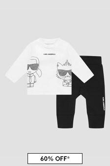 Karl Lagerfeld Baby Boys White Set
