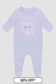 Karl Lagerfeld Baby Boys Blue Sleepsuit