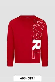 Karl Lagerfeld Boys Red Sweat Top