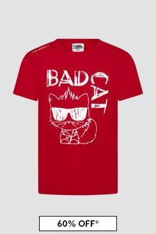 Karl Lagerfeld Boys Red T-Shirt