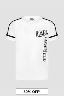 Karl Lagerfeld Boys White T-Shirt