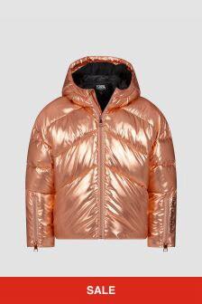 Karl Lagerfeld Girls Bronze Jacket