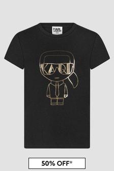 Karl Lagerfeld Girls Black T-Shirt