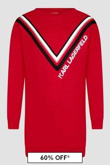 Karl Lagerfeld Girls Red Dress